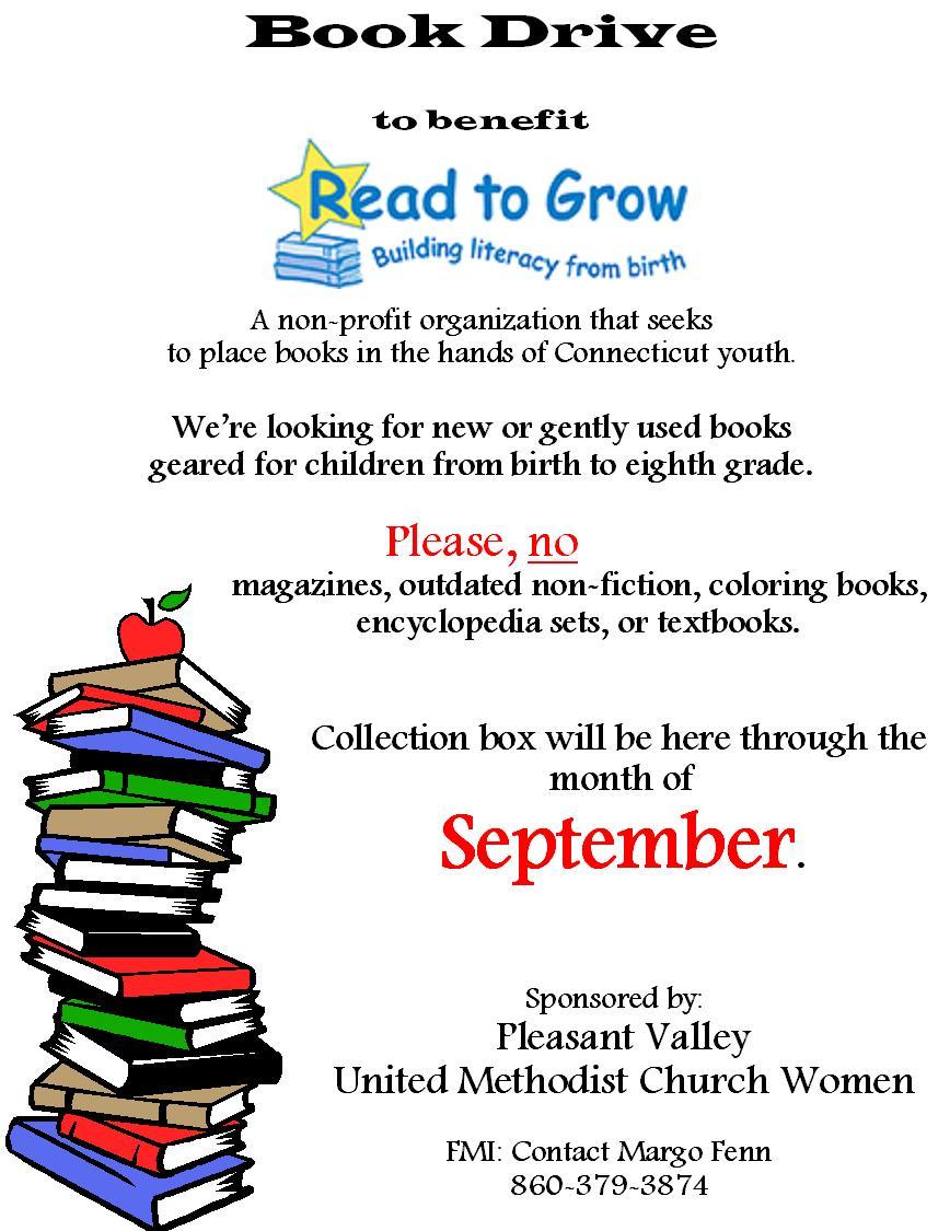 Book Drive Begins | Pleasant Valley United Methodist Church